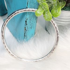 Silpada Sterling Bangle Hammered Bracelet B1482